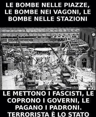 La strage di Milano, come quella di Bologna, ci ricorda chi è il terrorista e chi la sua manodopera.